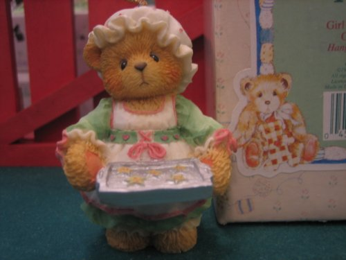 Cherished Teddies Girl Holding Tray of Cookies Hanging Ornament (Cherished Teddies Girl)