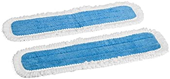 Zflow 18-Inch Microfiber Dust Mop Washable Pads, Blue (2 Pack)