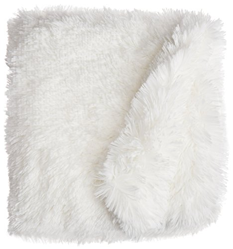White Dog Blanket (BESSIE AND BARNIE Pet Blanket, Small, Snow White/Snow White without Ruffle)