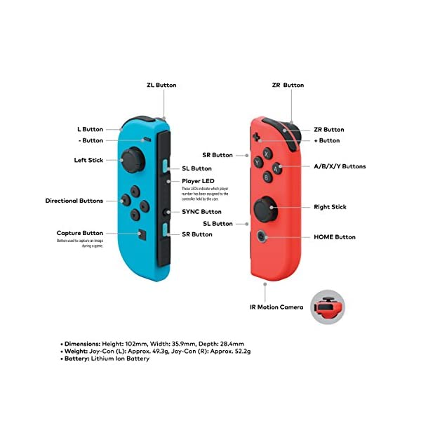 Nintendo Switch – Neon Red and Neon Blue Joy-Con - HAC 001 (Discontinued by Manufacturer) 6