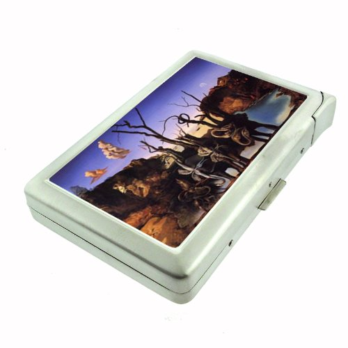 Salvador Dali Reflections Elephants Double-Sided Cigarette Case with lighter, ID Holder, and Wallet - Cigarette Dali Salvador Case