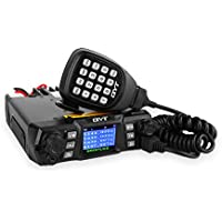 QYT KT-980 Plus VHF 136-174mhz UHF 400-480mhz 75W Dual Band Base Mobile Car Radio Hamd Walkie Talkie Transceiver Amateur, Quad-standby + Programming Cable, Colorful LCD Display