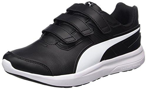 Puma Unisex-Kinder escaper SL V Jr Sneaker Schwarz (Puma Black-Puma White)