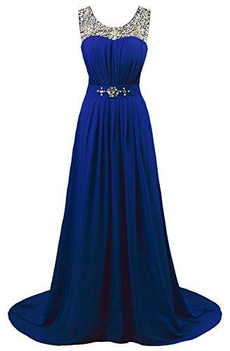 mujer Vantexi trapecio Vestido Azul para 6nY0wp