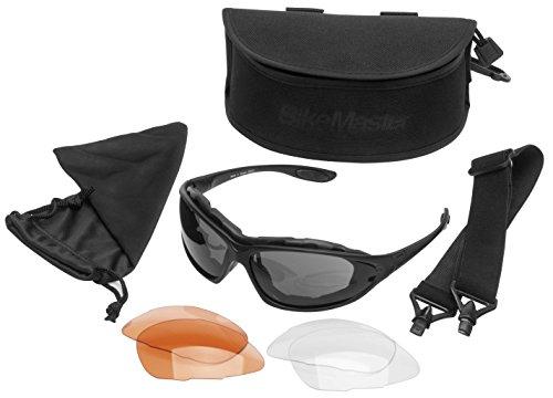 BikeMaster Windshield Convertible Mens Motorcycle Sunglasses -