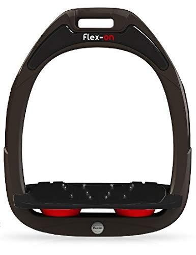 【 限定】フレクソン(Flex-On) 鐙 ガンマセーフオン GAMME SAFE-ON Mixed ultra-grip フレームカラー: ブラウン フットベッドカラー: ブラック エラストマー: レッド 07477   B07KMNTWRW
