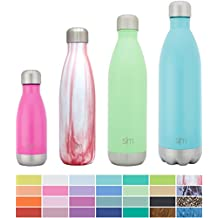 Simple Modern 17oz Wave Water Bottle - Vacuum Insulated Double-Walled 18/8 Stainless Steel Biking Swell Thermos - Bubble Gum Pink