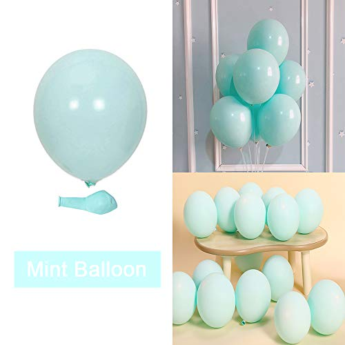 KOMOREBI Latex Pastel Balloons for Party 100 pcs 10inch Macaron Balloons for Birthday Wedding Engagement Chrismas Picnic or Any Friends&Family Party Decorations-Mint Balloons