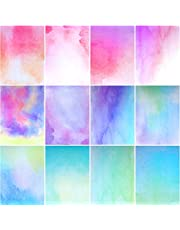 Stationary Papers 12 Watercolor Styles Writing Stationary Papers Letter, Double Sided Writing Paper, 8.5 x 11 Inches (60 Sheets)