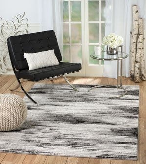 Rio Summit 305 Grey Black Area Rug Modern Abstract Many Sizes Available , 7 .4 x 10 .6