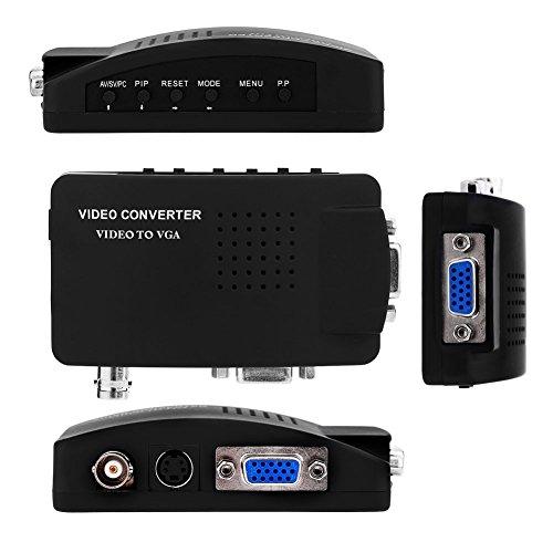 Yosoo CCTV BNC Camera Composite S-video To VGA Converter Adapter In