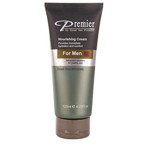 Premier Dead Sea Classic Nourishing Cream for Men, Light and gentle Moisturizer, Anti Wrinkle, firming, Sensitive Skin, Daily Use for younger looking skin 4.2fl.oz