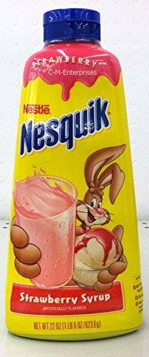 Nestle Nesquick Strawberry Syrup 22 Oz (Pack of 3) (Nestle Strawberry Syrup)