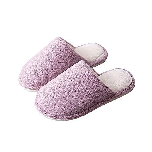 L'usure Simple En 37yards Coton Td couleur Jaune Pink Résistant Maison Pantoufles Tricoter Flip Hiver À Le Flop Confortable 36 dérapant Automne Et Laine Anti Taille q7TwWX7gO