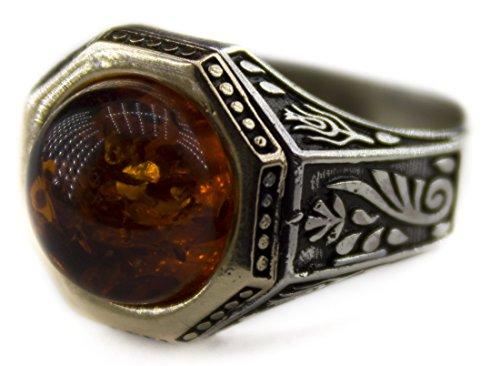 Mens Amber Ring - 8