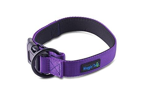 Waggin Tails Classic Comfort Dog Collar Premium Nylon Neoprene Padded Dog Collar Small, Medium, Large XLarge Sized Dog Comfortable Collar Your Dog Co. (XXLarge, Vibrant Purple)