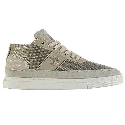 883Police Spark Casual Trainer Herren Khaki/GRY Fashion Turnschuhe Sneakers Schuhe
