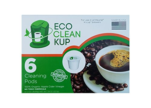 Eco Friendly Keurig K-Cup Machine Cleaning Pods by Eco Clean Kup - 6 Single Serve Cleaner Cups per Box (Compatible with Keurig (Eco Clean Green)