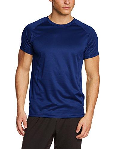 Lower East atmungsaktives Herren Freizeit und Funktions T-Shirt mit Rundhalsausschnitt, in verschiedenen Farben, Gr. Medium, Blau