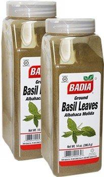 Badia Basil Leaves Ground 14 oz Pack of 2 by Badia