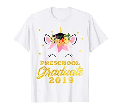 Cute Unicorn Face Flower Graduation Preschool Tshirt Gifts]()