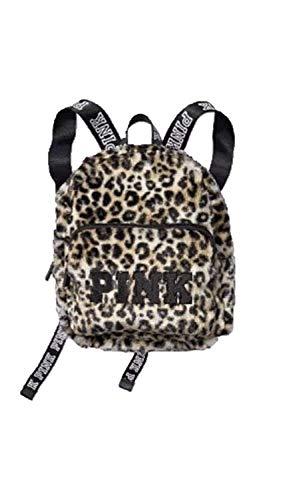 Victoria's Secret Mini Backpack Pink Leopard Faux Fur Animal Print ()