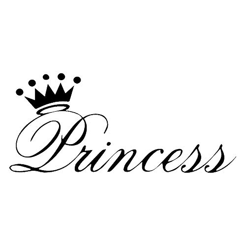 ywbtuechars Car Stickers and Decals, Stylish Princess Crown Car Vehicle Body Window Reflective Decals Sticker Decor PET - Black