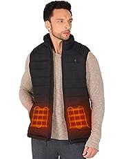 FTVOGUE Lightweight Men's Heated Vest with Battery Pack, Black