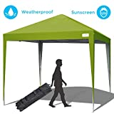 Quictent 10x10 Pop up Canopy Tent Commercial Instant Gazebo Shelter Waterproof with Wheeled Carry Bag (Green)