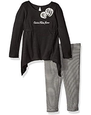 Baby Girls' Slub Jersey Tunic with Leggings Set