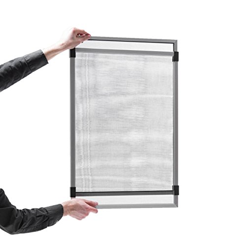 Adjustable Window Screen 10'' Tall (19 3/4 to 37) White Frame by Metro Screen Works (Image #1)
