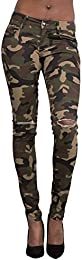 Women Army Military Camouflage Trouser Soft Pants Knee-Cut Leggings