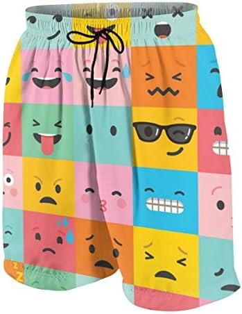 キッズ ビーチパンツ 超可愛い 絵文字 顔文字 サーフパンツ 海パン 水着 海水パンツ ショートパンツ サーフトランクス スポーツパンツ ジュニア 半ズボン ファッション 人気 おしゃれ 子供 青少年 ボーイズ 水陸両用