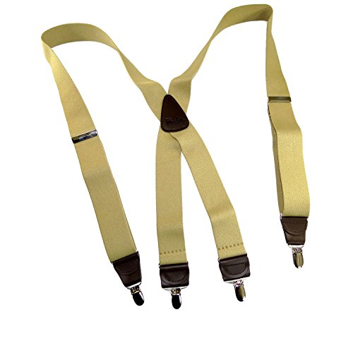 Holdup Suspender Company's Sand Dunes Tan Casual Series X-back Suspenders with Silver-tone No-slip Clips by Hold-Up Suspender Co. (Image #8)