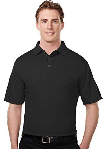 - Tri-Mountain 108 Men's Tenacity Micro Mesh Golf Shirt Black 3XLT