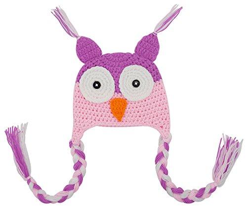 Bienvenu Baby Cute Crochet Knit Owls Woolly Cap Infant Toddler Earflap (Halloween Photo Shoot Ideas For Infants)