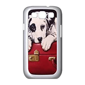 {Dalmatian Series} Samsung Galaxy S3 Case Dalmatian on Vintage Red Suitcase, Case Bloomingbluerose - White