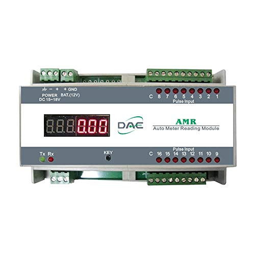 DAE AMR with Power Adapter, Din Rail, Auto Meter Reading Module, RS485, for Reading 16 Water Meters ()
