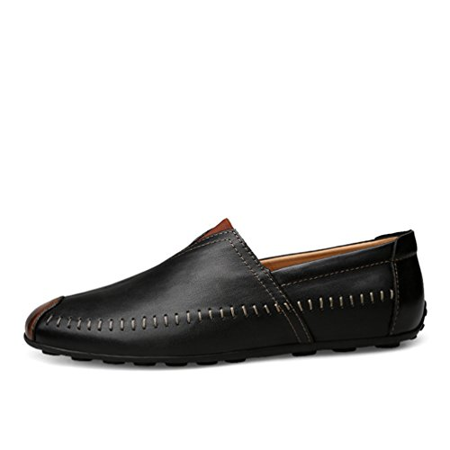 Slip Scarpe PU Guida Uomo Pelle Business Loafers 1 Casual da Scarpe On Nero Anguang Basse Mocassini IfBxq