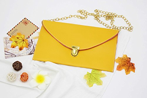 Gaorui Purse Tote Yellow Evening lady Envelope Women Shoulder Handbag Chain Clutch Multicolors Bag Zvxw4fqZHr