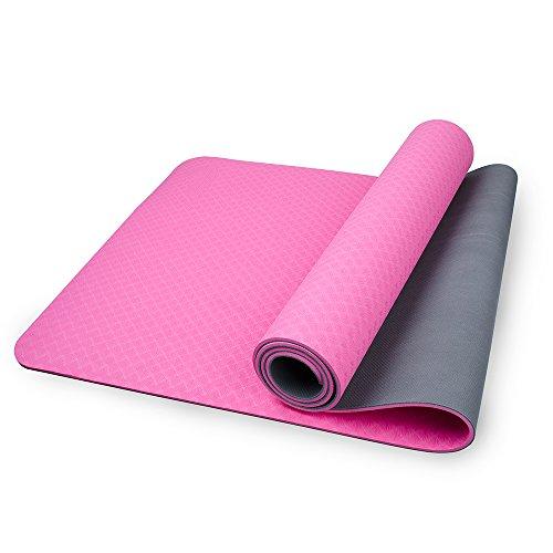 Mansov Yoga Mat Non Slip Eco Friendly Extra Thick High De...