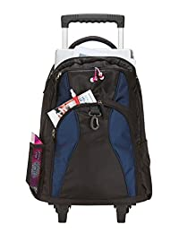 Travelwell G6423 Rolling Dual Handle Sports Computer Tablet Backpack with Wheels