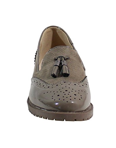 Shoes para de by Cordones Taupe Zapatos Mujer TOwxqZBvx