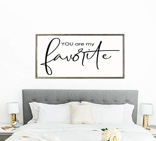 Framed Wood Sign, Home Decor You are My Favorite Master Bedroom Decor Bedroom Sign Bedroom Wall Decor