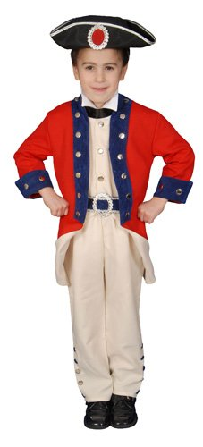 Deluxe Historical Colonial Soldier Costume Set - Small 4-6 (Colonial Soldier Costume)