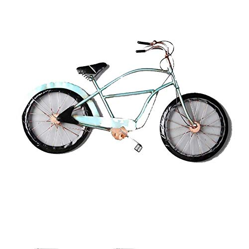 YYHSND Wall Hanging Ornament, Wrought Iron Retro Bicycle Wall Hanging Decoration, Suitable for Bar Home Wall Decoration (Wall Iron Bicycle Wrought Art)