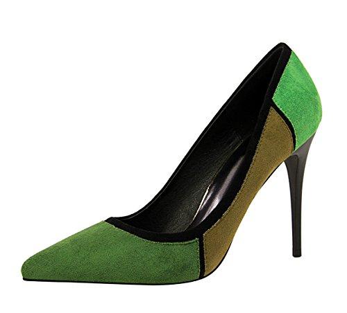 MiyooparkUK Vert Sandales 5 DS1368 2 Compensées Femme Miyoopark Green 36 gRwvfxdqf