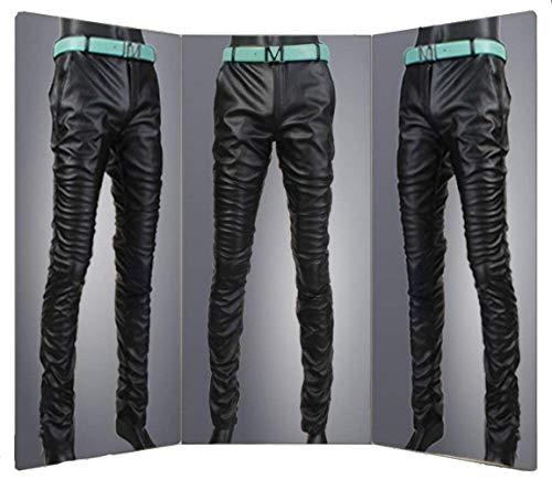 In Ts003de Pelle Uomo Di Pantaloni Black A Marca Da Sintetica Slim Bassa Mode Tubo Skinny Vita Jeans q1wZdHx