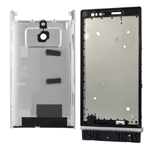 Generic Full Housing Cover compatible for Xperia P LT22 - Silver (Full Housing Xperia P compare prices)