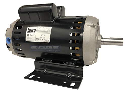 6.4 HP ELECTRIC MOTOR 23 AMP 7/8' SHAFT DIAMETER 3450 RPM 240 VOLT FOR COMPRESSOR WEG 00636OS1XCD182/4Y